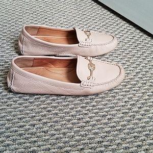 Light beige Coach loafers